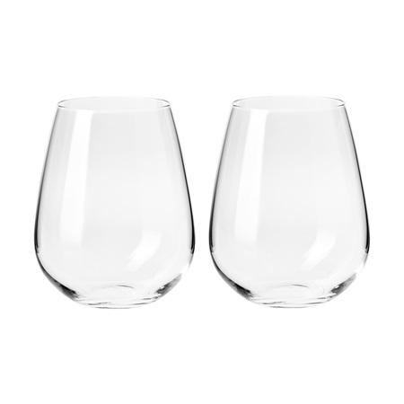 Krosno Duet Stemless Wine Glass 500ml S/2