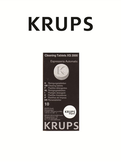 Krups Coffee Maker  Cleaning Tablets XS 3000
