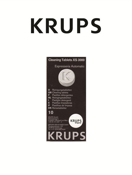 Krups Coffee Maker  Cleaning Tablets XS3000
