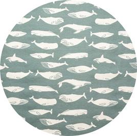 """""""Kujira"""" Whale, Gray, GOTS Organic Cotton, 116 gsm"""