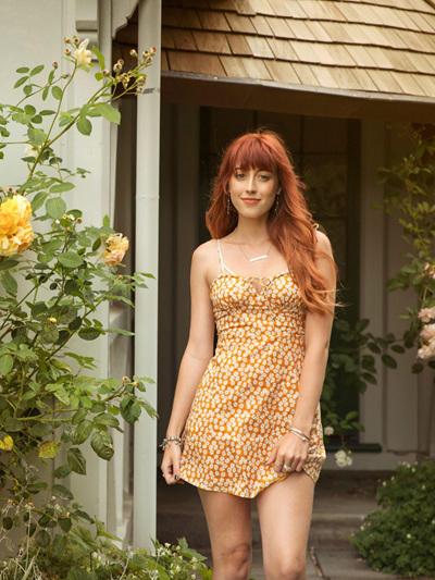 Kylie Dress - Mustard Floral