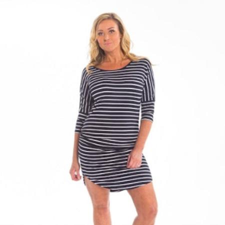 Kylie Dress - Navy Stripe