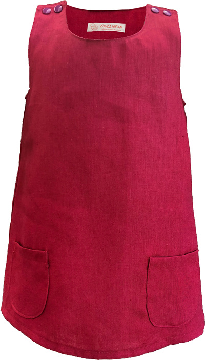 'Kyra' Tent Dress, 'Berry' Pure Linen, 2 years