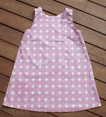 'Kyra' Tent Dress in 'Mauve Plus' 100% Cotton, 4 years