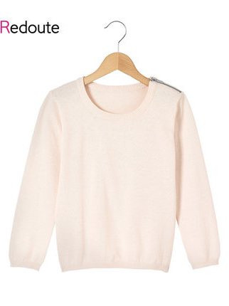 La Redoute Pink jumper zip on shoulder