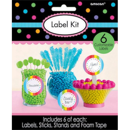 Labels and kit - multi coloured
