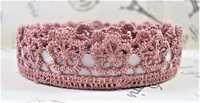 Lace Adhesive Tape Style A: Antique Rose Pink