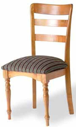 Ladderback Round Top Rail Chair