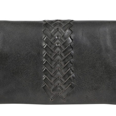 Ladies Leather Wallet with Shoulder Strap
