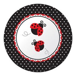 Lady Bug Fancy Banquet Plates