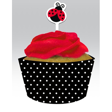 Lady Bug Fancy Cupcake Decorating Kit