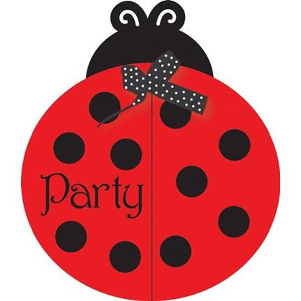 Lady Bug Fancy Party Invitations