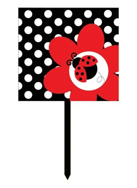 Lady bug Fancy Plastic Yard Sign