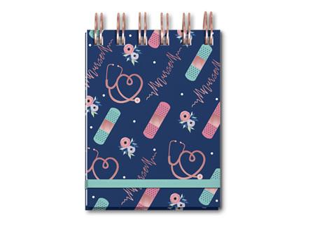 Lady Jayne Nurse Pattern Spiral Notepad