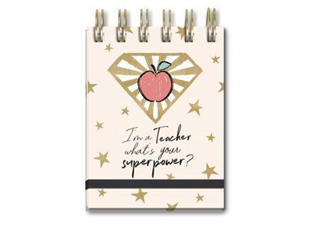 Lady Jayne Superpower Teacher Spiral Pocket Notepad