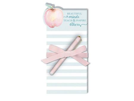 Lady Jayne Teacher Apple Die-Cut Pad with Pen