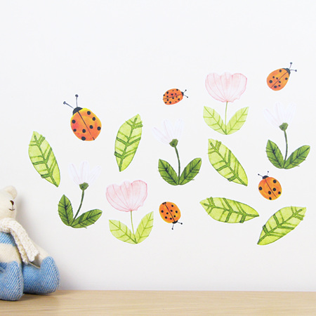 Ladybirds wall decal