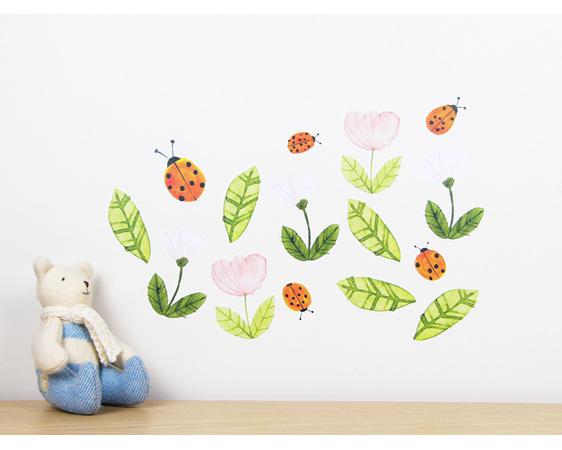 Ladybirds wall decal