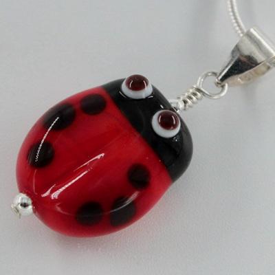 Ladybug pendant - red
