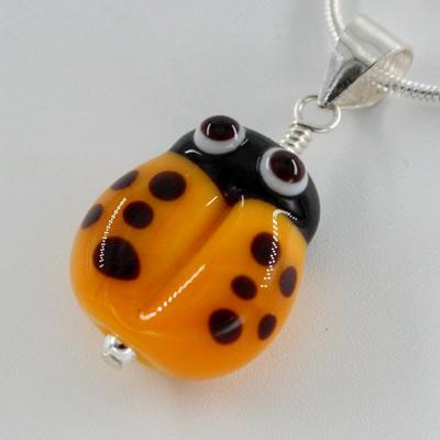 Ladybug pendant - yellow