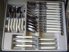 Laguiole boxed 24 piece cutlery set