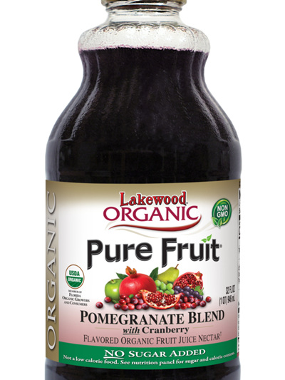 Lakewood Pure Pomegrante With Cranberry Juice Organic 946ml
