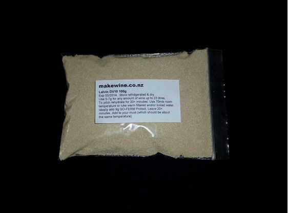 Lalvin DV10 Professional Winemaking Yeast 100g