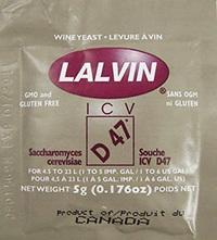 Lalvin ICV D47 Yeast 5g