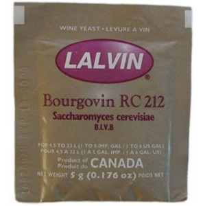 Lalvin RC212 Red Wine Yeast 5g