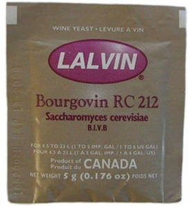 Lalvin RC212 Red Wine Yeast 5g Sachets