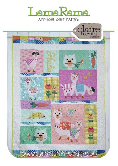 LamaRama Applique Quilt Pattern from Claire Turpin Design