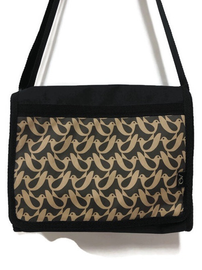 Kiwa satchel - laminated bird