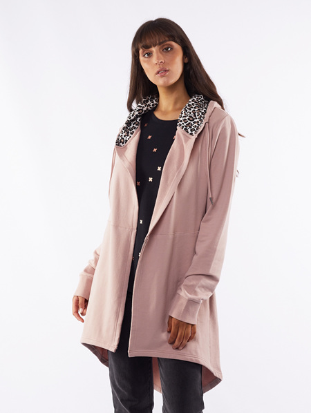 Lane Hooded Cardi - Duskie Pink