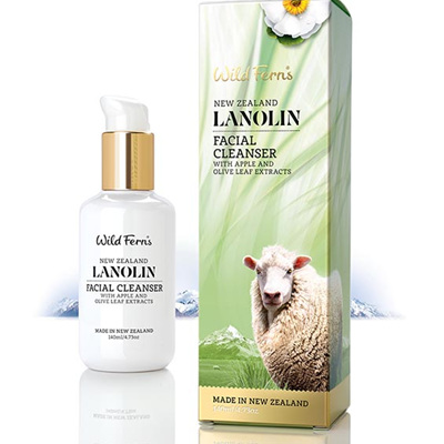 Lanolin Facial Cleanser with Apple and Olive Leaf