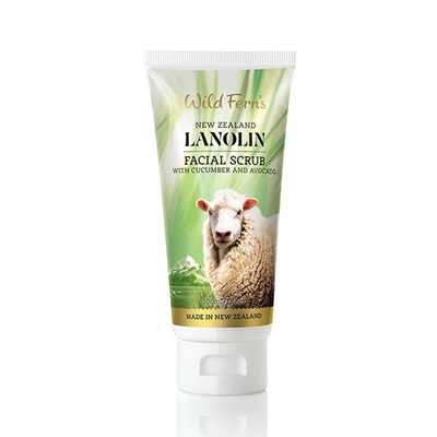 Lanolin Facial Scrub with Cucumber and Avocado