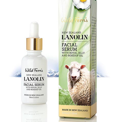 Lanolin Facial Serum with Royal Jelly and Rosehip Oil