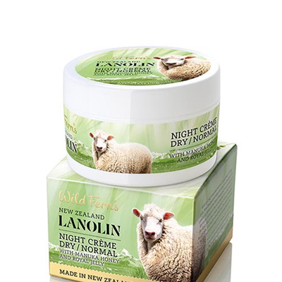 Lanolin Night Creme - Dry to Normal - with Manuka Honey and Royal Jelly