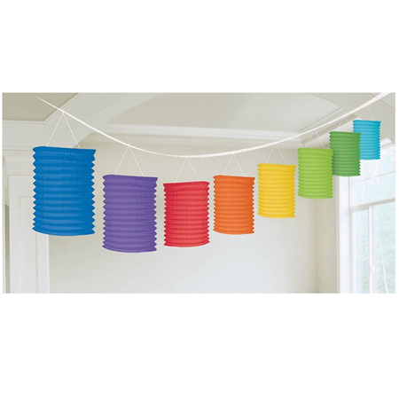 Lantern Garland Multicolour 3.65m