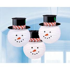 Lanterns 3 pack snowman