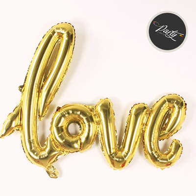 "Large 108cm ""LOVE"" Foil Helium Balloon - Gold or  Red"