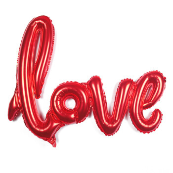"Large 108cm ""LOVE"" Foil Helium Balloon - Red"