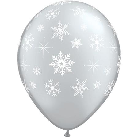 Large 40cm latex balloon - snowflakes & sparkles