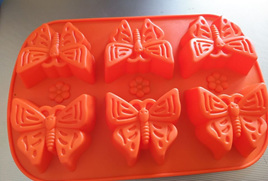 Large 6 n 1 Butterflies Shape Chocolate Silicone Mould
