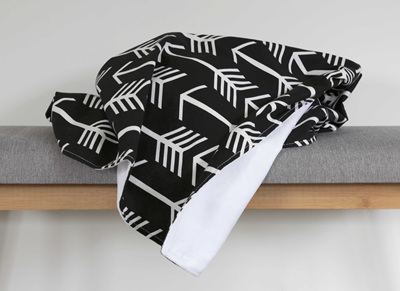 Large B&W Arrows Blanket