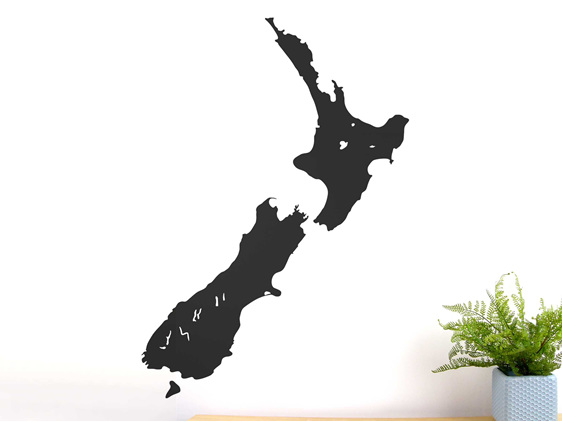 Large black chalkboard New Zealand wall decal
