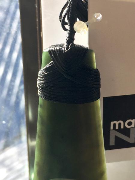 Large bound New Zealand Greenstone Toki T217 (6cm)