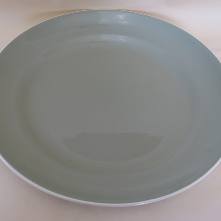Large celadon glaze platter