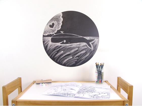 Large chalkboard dot wall decal