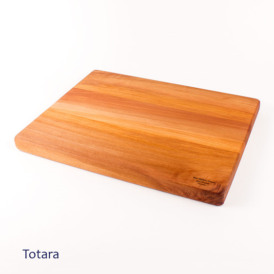 large chopping board made from totara - made in new zealand