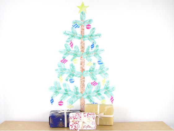 Large Christmas tree wall decal